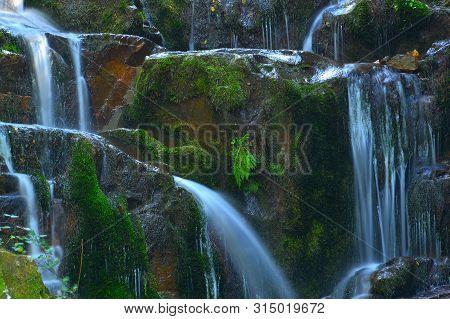 Water Falls , S. Vicente River , Fragoso , North Of Portugal