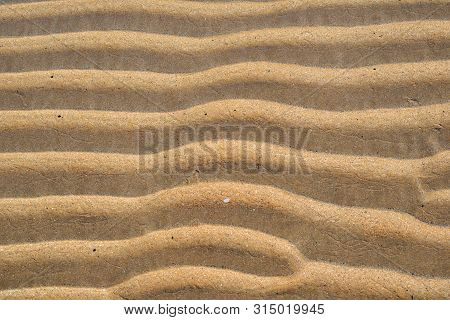 Waves Of Sand; Wavy Sand On The Beach, Natural Beauty