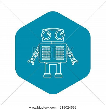 Humanoid Robot Icon. Outline Illustration Of Humanoid Robot Icon For Web