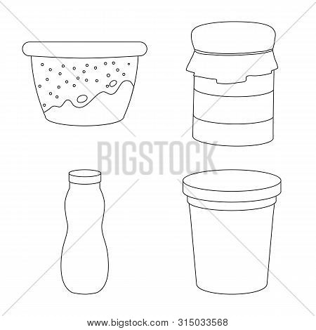 Vector Illustration Of Calcium And Food Icon. Collection Of Calcium And Product Vector Icon For Stoc