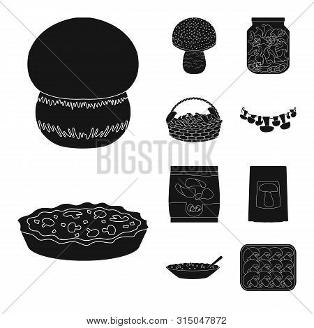 Vector Design Of Variety And Ingredient Logo. Collection Of Variety And Food Vector Icon For Stock.