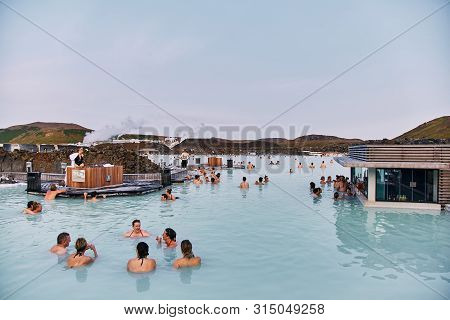 Reykjavik, Iceland - August 21, 2017:the Blue Lagoon Geothermal Spa Is One Of The Most Visited Attra