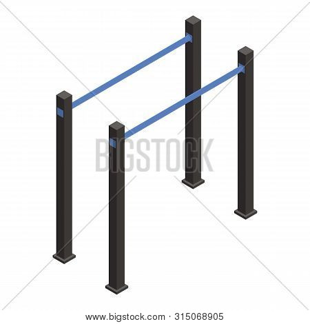 Gymnastic Parallel Bar Icon. Isometric Of Gymnastic Parallel Bar Icon For Web Design Isolated On Whi