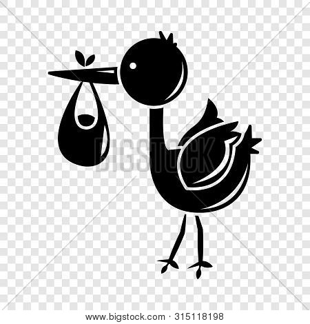 Stork Child Icon. Simple Illustration Of Stork Child Vector Icon For Web