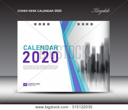Cover Desk Calendar 2020 Template, Cover Design, Flyer Template, Ads, Booklet, Catalog, Newsletter,