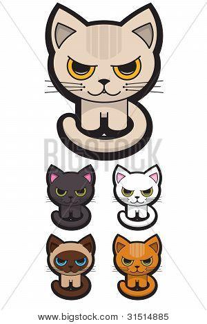 Set Of Five Adorables Cats