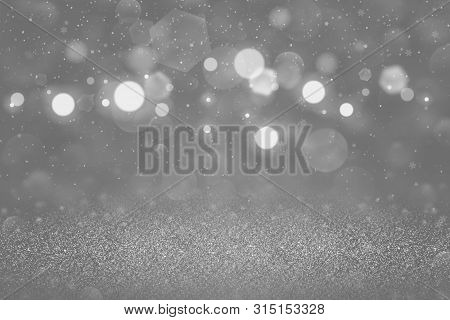 Nice Sparkling Abstract Background Glitter Lights With Falling Snow Flakes Fly Defocused Bokeh - Cel