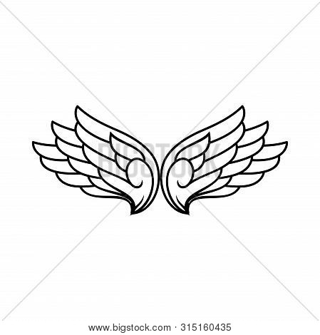 Logo Vector Wings, Vector Wings Collection, Wing Logo Company, Icon Wing Flying, Eagle Wing Brand An