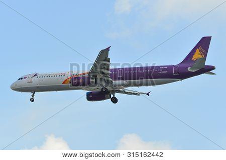 Saigon, Vietnam - Jul 13, 2019. Xu-350 Cambodia Angkor Air Airbus A321 Landing At Tan Son Nhat Airpo