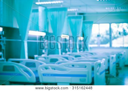Abstract Blur Hospital Corridor,patient Beds In Modern Hospitals,patient Beds Are Empty And Clean In