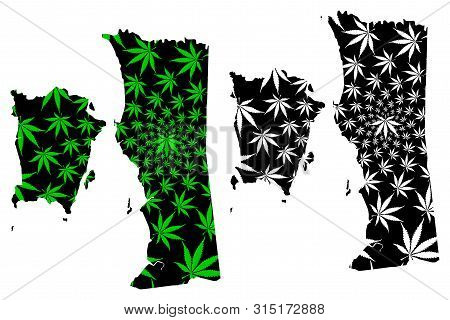 Penang (states And Federal Territories Of Malaysia, Federation Of Malaysia) Map Is Designed Cannabis