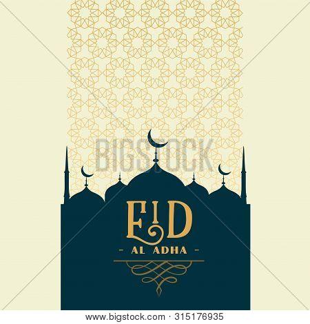 Islamic Traditional Eid Al Adha Festival Greeting