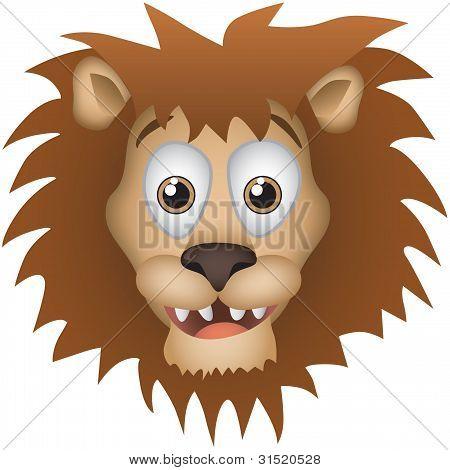 Lion Vector Cartoon Illustration