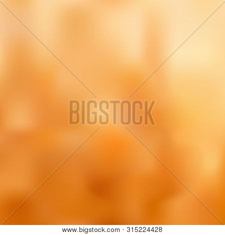Bright Blurred Background With Orange-yellow, Sand And Ocher Color Transitions. Great As A Backgroun
