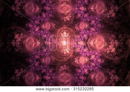 Pink Purple Fractal Fraktal Geometric Pattern Wallpaper Art Artsy Background Cover Flyer Pattern