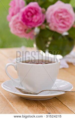 Spring Tea In Garden