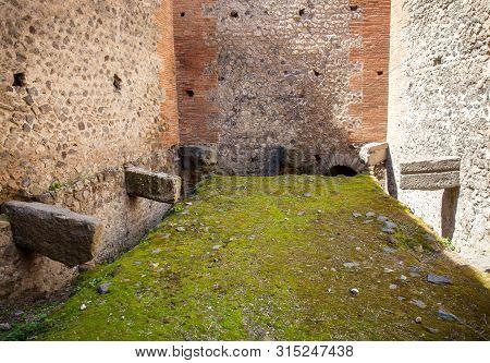 Public Latrines On The Ancient City Of Pompeii