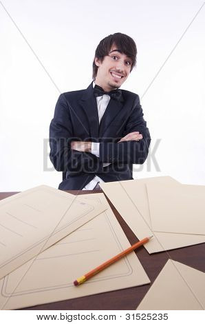Businessman Stressed In His Office