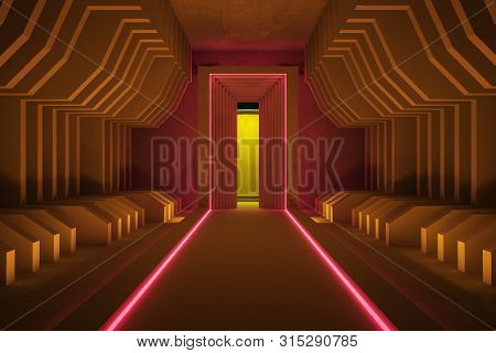 Abstract Brown Tunnel