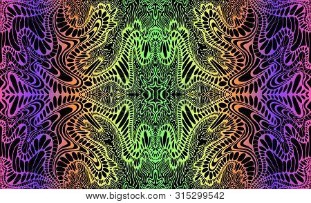 Psychedelic Trippy Vector Photo Free Trial Bigstock