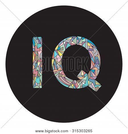 Iq Hand Drawn Graphic Design. Intelligence Quotient Abbreviation Vector Illustration.