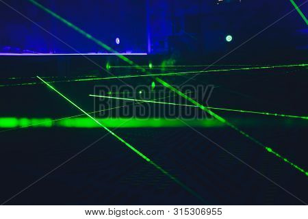Laser Tag Play Arena With Fluorescent Paint, Energiser Room.
