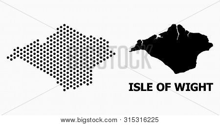 Pixelated Map Of Isle Of Wight Composition And Solid Illustration. Vector Map Of Isle Of Wight Compo