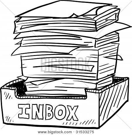 Crowded inbox sketch