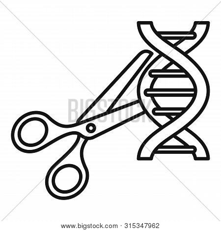 Cutted Dna Molecule Icon. Outline Cutted Dna Molecule Vector Icon For Web Design Isolated On White B