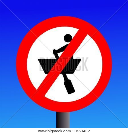 No Rowing Boats Sign