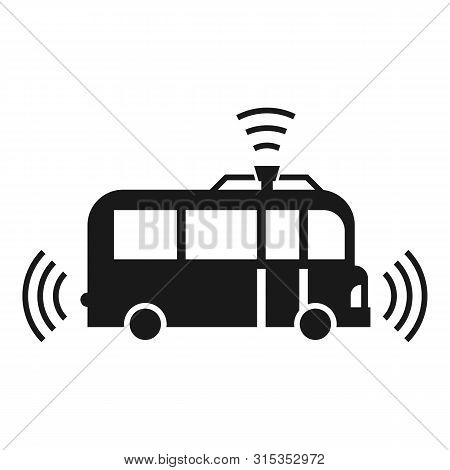 Autopilot Bus Icon. Simple Illustration Of Autopilot Bus Vector Icon For Web Design Isolated On Whit