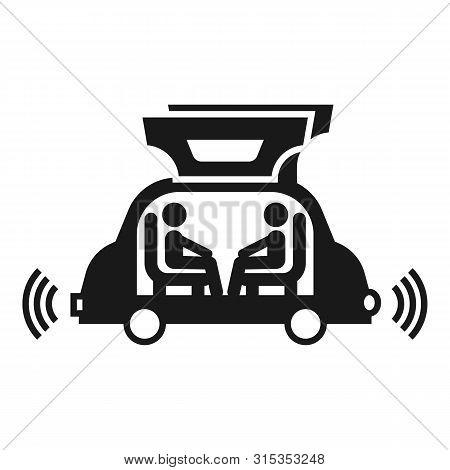 Futuristic Autopilot Car Icon. Simple Illustration Of Futuristic Autopilot Car Vector Icon For Web D