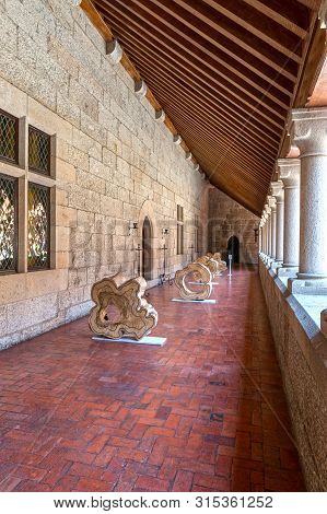 Guimaraes, Portugal - April 2018: Exposition Gallery In The Palace Of The Dukes Of Braganza