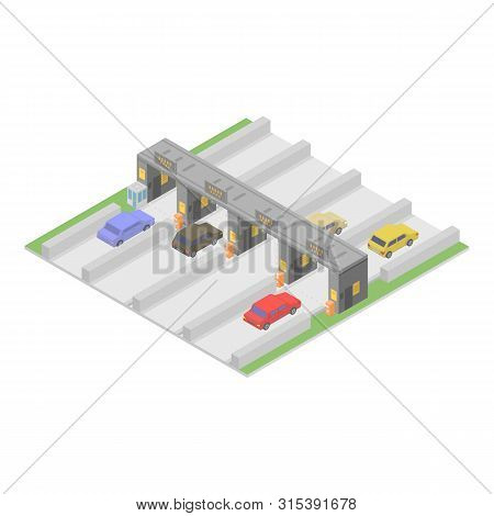 Autobahn Icon. Isometric Of Autobahn Vector Icon For Web Design Isolated On White Background