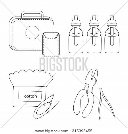 Vector Design Of Nicotine And Filter Sign. Collection Of Nicotine And Pipe Stock Symbol For Web.