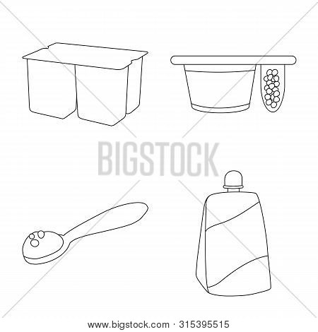 Vector Design Of Calcium And Food Symbol. Collection Of Calcium And Product Vector Icon For Stock.