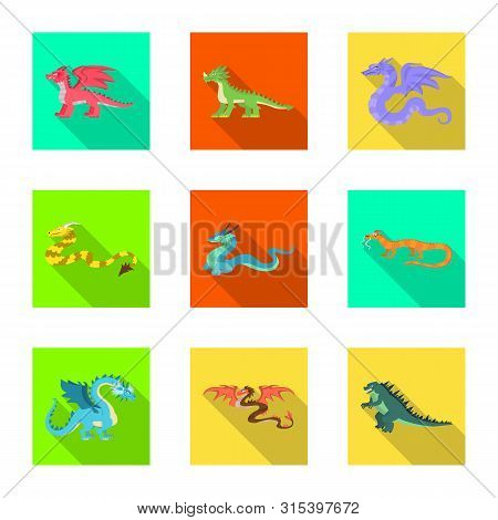 Vector Design Of Legend And Halloween Sign. Collection Of Legend And History Stock Vector Illustrati