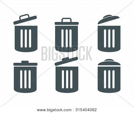 Trash Icon Collection. Trash Icon Isolated On White Background From Photography Collection. Trash Ic