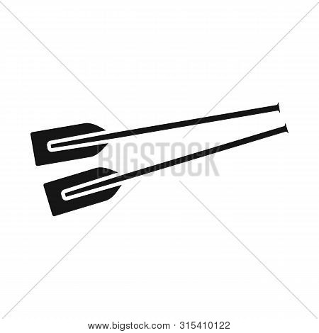 Vector Illustration Of Oars And Paddle Icon. Set Of Oars And Sport Vector Icon For Stock.