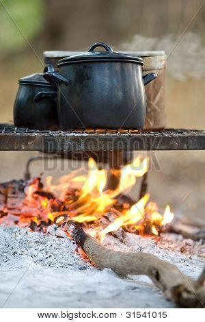 Feuer kochen