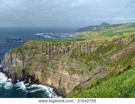 Rocky Coastal Scenery At The Azores