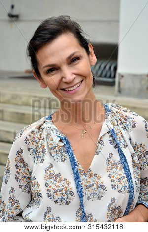 Szczecin,poland. 2 August 2019. Portrait Of An Actress And Singer Olga Bonczyk