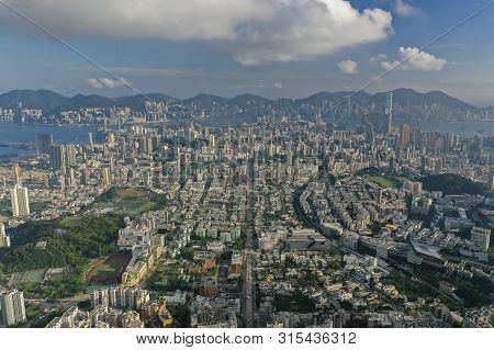Aerial View Of Hong Kong In Daytime