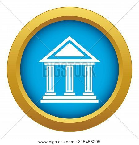 Colonnade Icon Blue Vector Isolated On White Background For Any Design