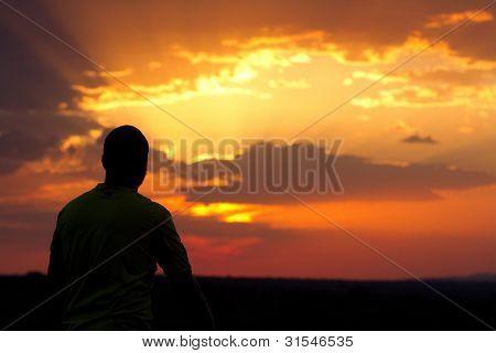 Serengeti Sonnenuntergang