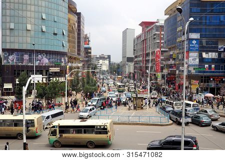 Addis Ababa, Ethiopia, 18 July 2019 : The Vast City Of Addis Ababa, Capital Of Ethiopia Is One Of Th