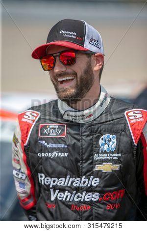 July 27, 2019 - Newton, Iowa, USA: Jeremy Clements (51) takes to the track to qualify for the U.S. Cellular 250 at Iowa Speedway in Newton, Iowa.