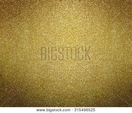 Gold Background. Golden Glitter Or Shimmer Texture