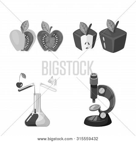 Vector Design Of Transgenic And Organic Sign. Set Of Transgenic And Synthetic Vector Icon For Stock.
