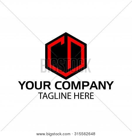 Letter Cd Stock Logo, Cd Initial., Flat Design.
